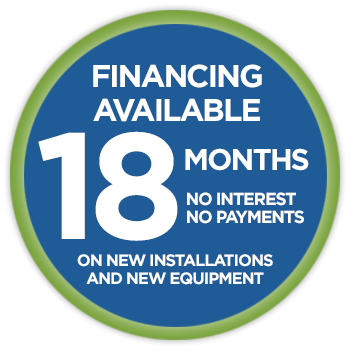 Financing 18mo. no interest